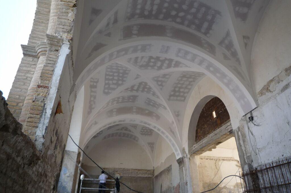 Falso techo Continuo Bóvedas de crucería Convento en La Cartuja Zaragoza