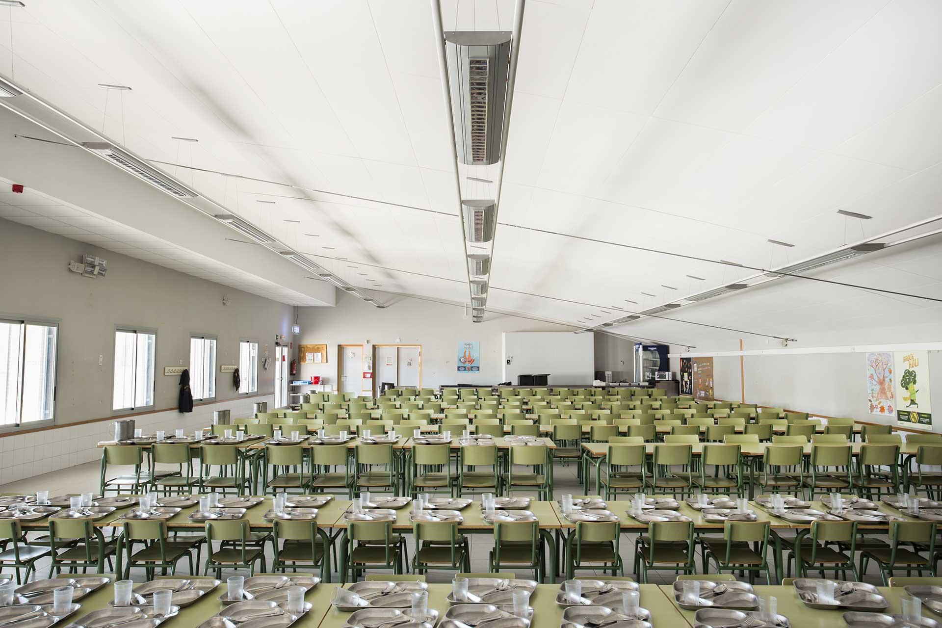 Falso techo continuo FOCUS F Ecophone Colegio Montecanal