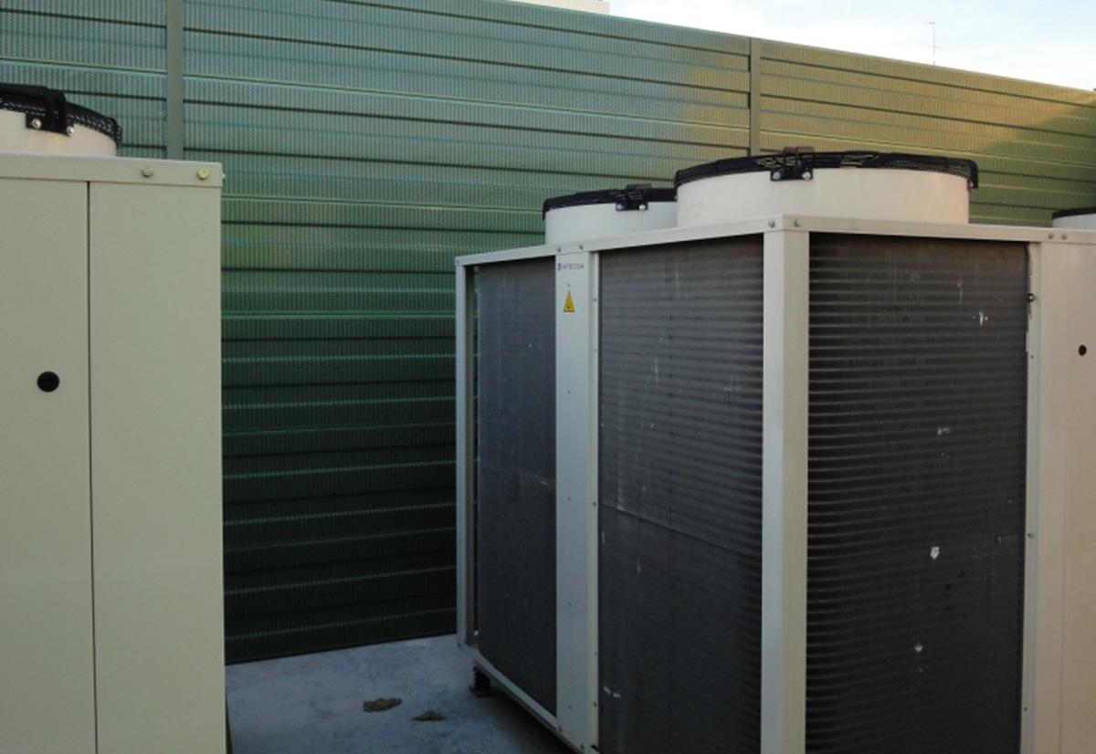 Atenuación ruido máquinas climatización