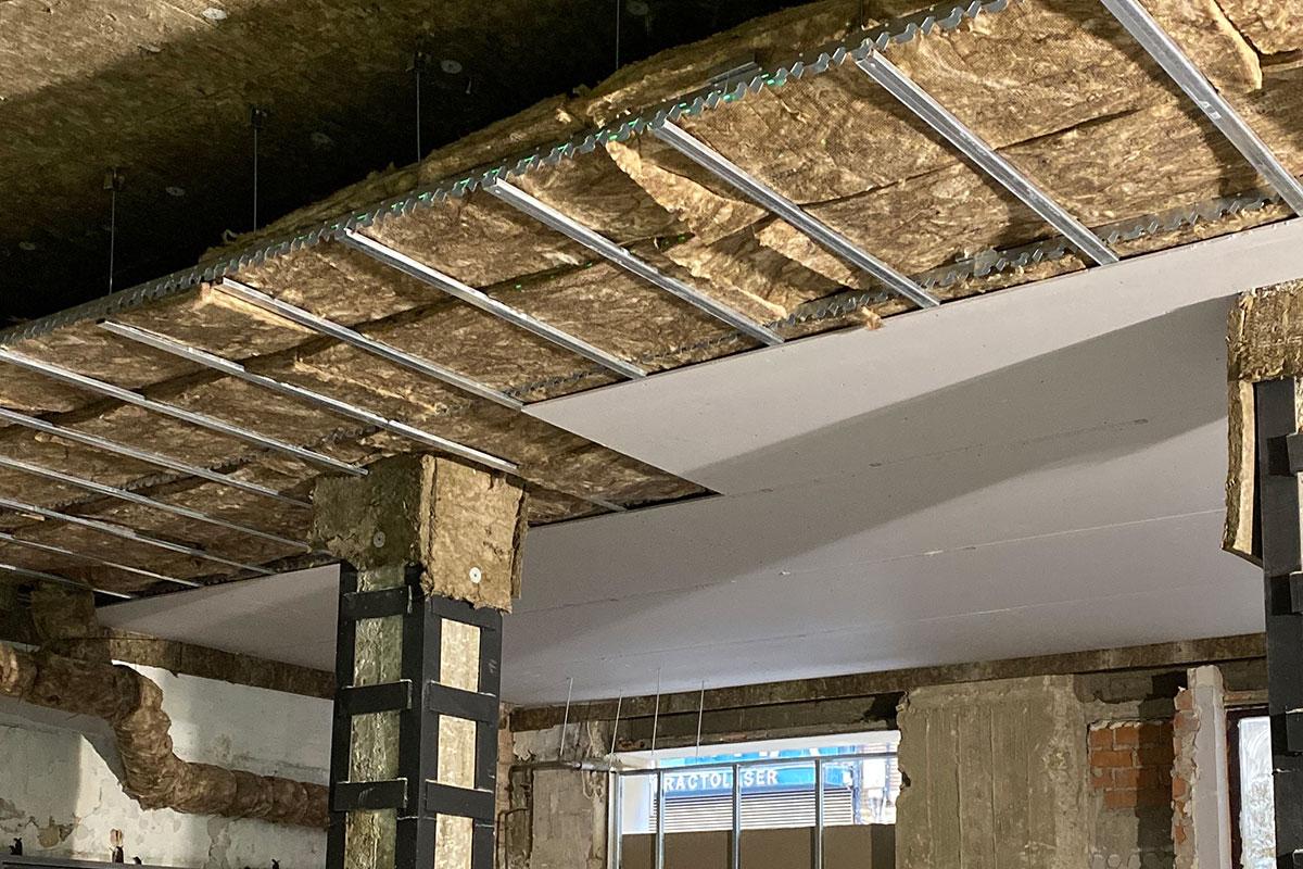Falso techo para Insonorización