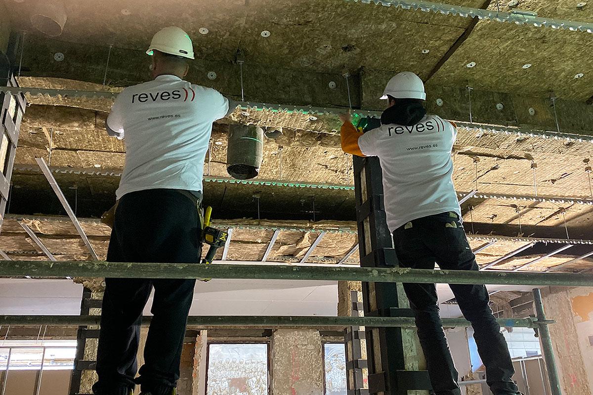 Colocación de falso techo